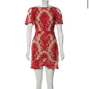 For Love and Lemons San Marco Mini Dress - Red